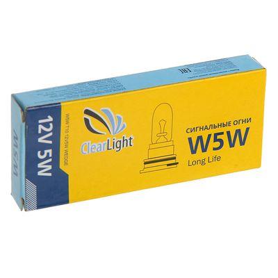 Галогенная лампа Clearlight W5W, T10, 12 В