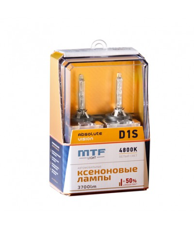 Ксеноновые лампы MTF Light D1S Absolute Vision 4800K +50%