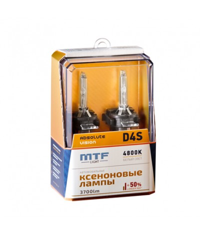Ксеноновые лампы MTF Light D4S Absolute Vision 4800K +50%