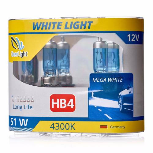 Лампа HB4(Clearlight)12V-55W WhiteLight (2 шт.)