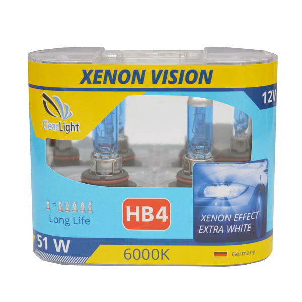 Лампа HB4(Clearlight) 12V-55W XenonVision (2шт)