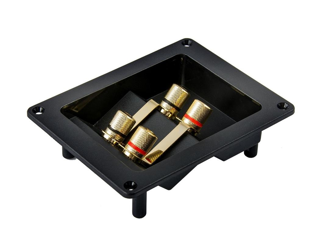 Терминал для подключения акустики AURA WTB-930P 4-конт квадратная
