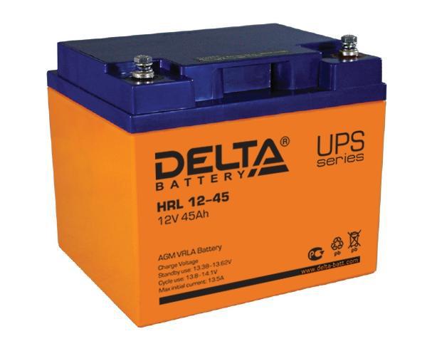AGM Aккумулятор Delta HRL 12-45 (12V / 45Ah)