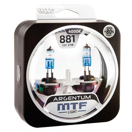 Лампа галогенная H27/2 Argentum +80% MTF Light