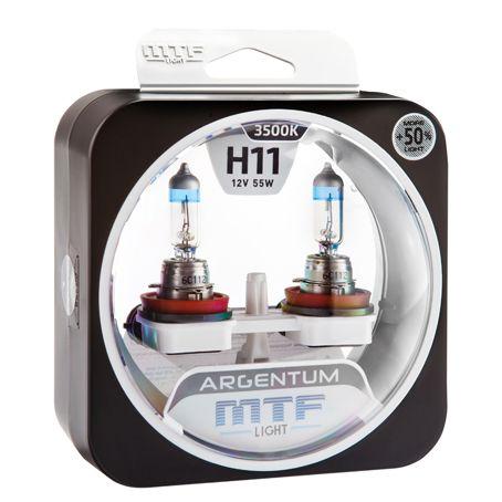 Лампа галогенная H11 Argentum +50% MTF Light
