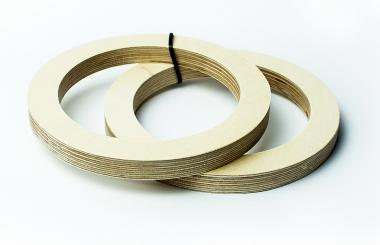 Кольцо проставочное фанера 16 см (пара)