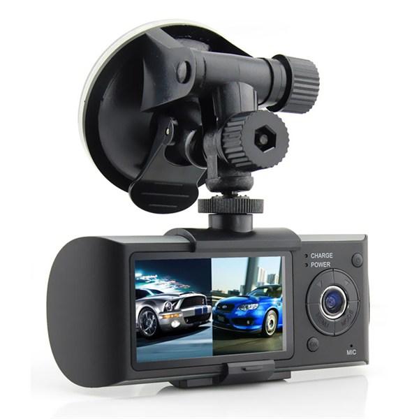 Видеорегистратор DVR-R300 с 2 камерами, GPS и G-сенсором