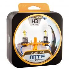 Комплект галогенных ламп MTF Light H3 12V 55W AURUM 3000K