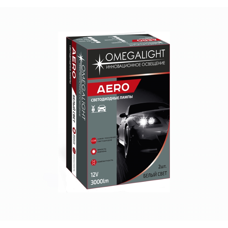 Omegalight Aero H8/H9/H11  3000 lm