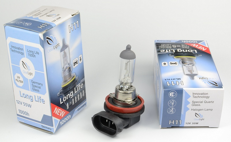 Лампа H11 12V 55W Clearlight LongLife