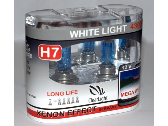 Лампа H7(Clearlight)12V-55W WhiteLight (2 шт.)