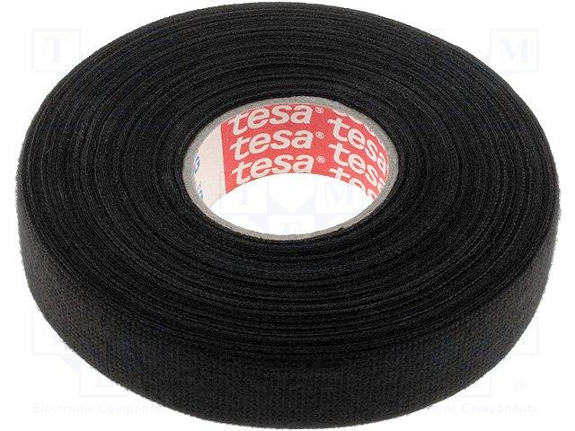 Изолента тканевая TESA 51618/04, черная, 19ммх25м